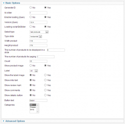 Слайдер товаров для JoomShopping на основе BxSlider