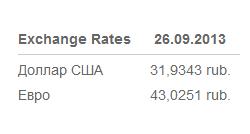 Модуль курса валют для России