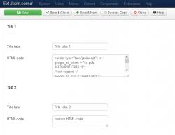 Tabs custom HTML-code jQuery module