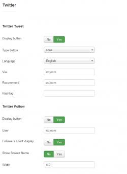 Social buttons plugin