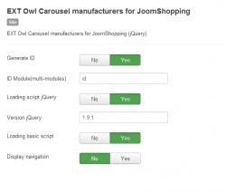 Модуль Owl карусель производителей товаров для JoomShopping