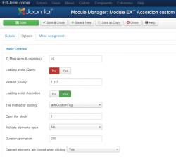 Accordion custom HTML-code module