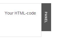 Модуль выдвижной панель на CSS