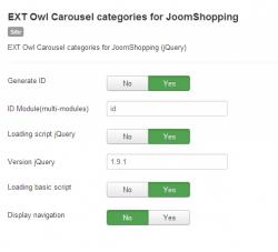 Owl Carousel categories for JoomShopping module