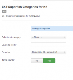 Superfish Categories for K2 module