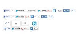 Social buttons module
