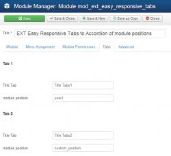 Модуль Адаптивные вкладки из модульных позиций