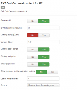 Owl Carousel content for K2 module