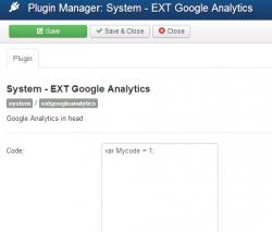 Google Analytics plugin
